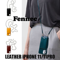 Fennec(フェネック) iPhone・スマホケース 【Fennec】牛革 LEATHER iPHONE 11/11PRO STRAP POCKET CASE