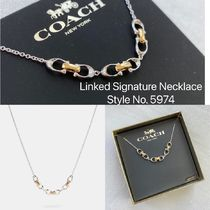 即発 COACH★Linked Signature Necklace 5974*箱付き!