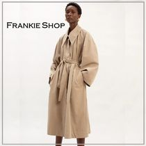 「THE FRANKIE SHOP」POINTED COLLAR COCOON TRENCH COAT HEMP