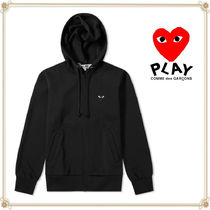 PLAY COMME des GARCONS(プレイコムデギャルソン) パーカー・フーディ 関送込★PLAY COMME des GARCONS★大人気ハートジップパーカー