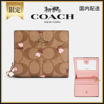 COACH☆Snap Wallet In Signature Canvas☆コンパクト財布☆送込