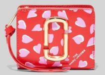 MARC JACOBS☆THE SNAPSHOT PRINTED HEARTS MINI COMPACT WALLET