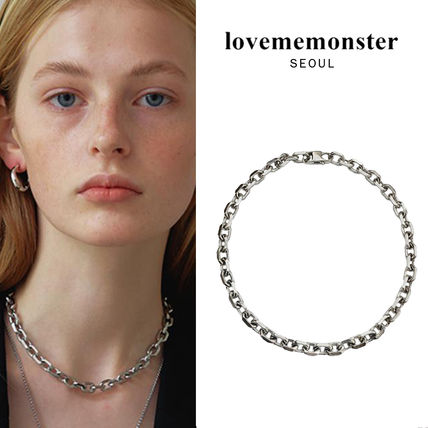 韓国発【LOVE ME MONSTER】Surgical Chunky Link Chain Necklace