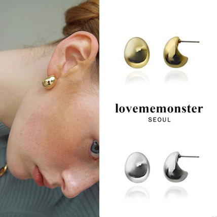 韓国発【LOVE ME MONSTER】Bold Egg Earrings/ピアス