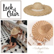 lack of color(ラックオブカラー) ハット 国内発送 ★..Scalloped Dolce Hat サンハット..★