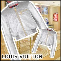 21SS☆Louis Vuitton EMEA SILVER LEATHER BOMBER JACKET 1A8RE4