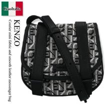 Kenzo Courier mini fabric and smooth leather messenger bag