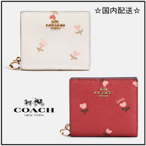 COACH☆Snap Wallet With Heart Floral Print☆二つ折り☆送込