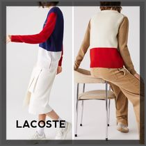 ☆LACOSTE☆Made in France クルーネック ウールセーター