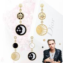【Dior】 ROSE DES VENTS AND ROSE CELESTE EARRINGS ピアス