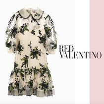 RED VALENTINO ☆ Floral embroidered tulle ドレス