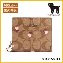 【COACH】Snap Wallet In Signature Canvas◆国内発送◆