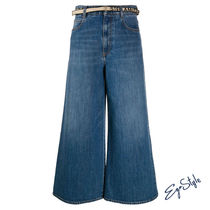 JEANS CROPPED IN COTONE