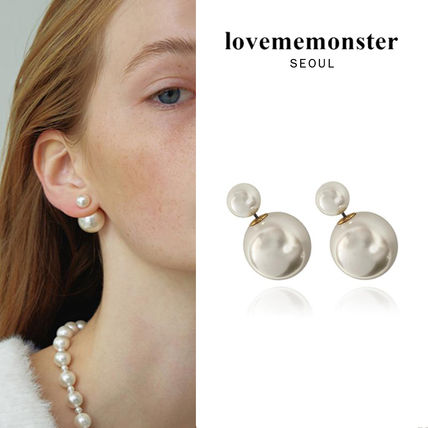 韓国発【LOVE ME MONSTER】Pearl & Pearl Earrings/ピアス