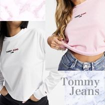 【Tommy Jeans】クロップロゴ長袖Tシャツ