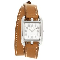Hermes Cape Cod White Dial Natural Leather Strap  Watch