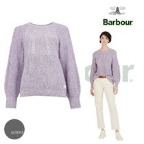 Barbour:Marled Victoria Cotton Sweater/Lilac 国内未入荷!
