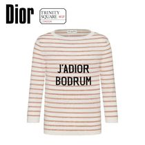 DIOR ディオール Mariniere Sweater -Pink and Ivory Striped