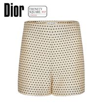 DIOR ディオール High-Waisted Shorts -Ivory Silk and Cotton