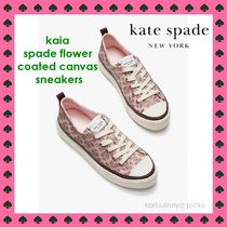 NEW*Kate Spade NY*kaia spade flower coated canvas sneakers