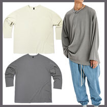 [ATTENTIONROW] Waffle Rip Over-Fit Long Sleeve★日本未入荷