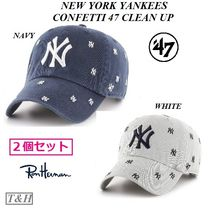 お得な2個Set! [RON HERMAN]取扱 NY YANKEES '47 CLEAN UP Cap