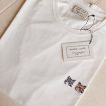 ◆国内即発◆ MAISON KITSUNE DOUBLE FOX HEAD パッチ Tシャツ