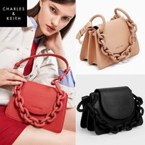 ★ Charles & Keith★Chain Flat Tote Cross Bag★5色