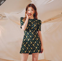 JENNY着用●common unique● yellow flower jacquard ops