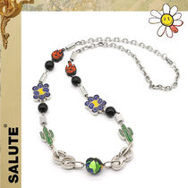 [SALUTE] CATCUS FLOWER FLAME NECKLACE★サボテン花火