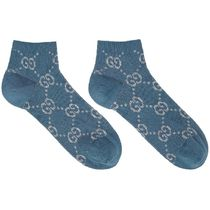 Blue & Silver Lame Short GG Socks
