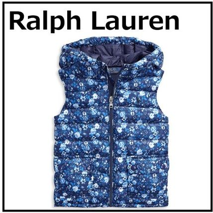すぐに届く! Polo Ralph Lauren Girls' Quilted Floral Vest