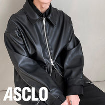 ASCLO 2Way Zipper Leather Jumper