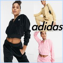 *adidas*Relaxed Risque ベロアジップパーカー セットアップ