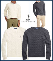【POLO RALPH LAUREN 】Wool Cashmere Cable Knit Sweater★