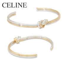 KNOT DOUBLE BRACELET IN BRASS BI-GALVA GOLD & RHODIUM FINISH