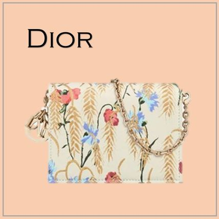「DIOR」LADY DIOR 5-GUSSET CARD HOLDER WITH CHAIN