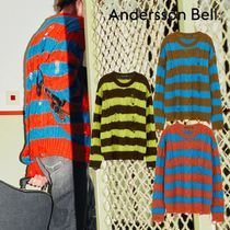 ANDERSSON BELL - UNISEX DESTROYED STRIPE CABLE SWEATER