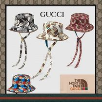 コラボ【GUCCI 】The North Face x Gucci self tie nylon hat
