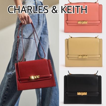 CHARLES & KEITH メタリックプッシュロック★クロスボディバッグ
