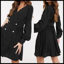 Missguided pleated skater dress