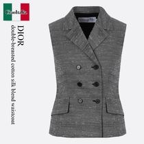 Dior double-breasted cotton silk blend waistcoat