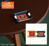 【HERMES】ミニ灰皿 2枚セット「Rocabar a Cheval」/ Rouge H