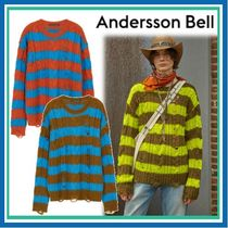 ANDERSSON BELL DESTROYED STRIPE CABLE SWEATER ニット男女兼用