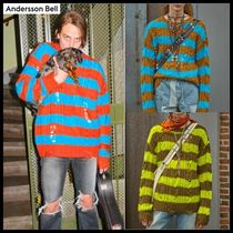 ☆ANDERSSON BELL☆ UNISEX DESTROYED STRIPE CABLE SWEATER