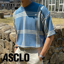 Bubble Check Round Short Sleeve Knit (3color)