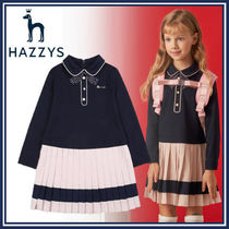 HAZZYS☆HRS11NA56M_NV☆レイヤードワンピース☆卒入園☆卒入学