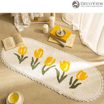 DECO VIEW(デコヴュー) ★Yellow Tulip Lace Soft Kitchen Mat