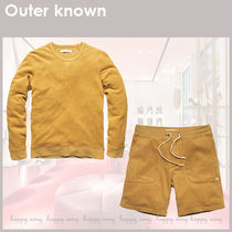 Outer known★スウェットシャツ ショートパンツセットアップ