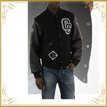 OPENING CEREMONY(オープニングセレモニー) ブルゾン ☆SEAL☆Bomber with Patch and Leather Sleeves